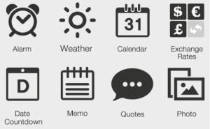 Morning Kit smart phone app widgets.
